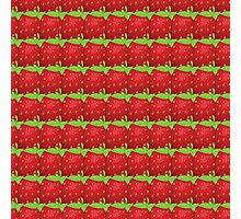 Vector seamless pattern of  many big strawberry Photographic Print