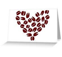 Coffee Bean Heart Greeting Card