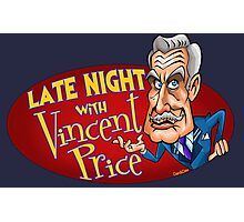 Late Night with Vincent Price  Photographic Print