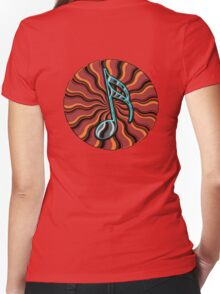 Hip Semiquaver -  16th Note Music Symbol Women's Fitted V-Neck T-Shirt