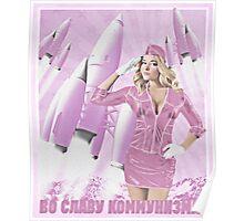 Communism rocks (in pink) Poster