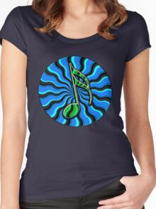 Springtime Semiquaver -  16th Note Music Symbol Women's Fitted Scoop T-Shirt