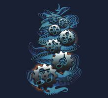 Music Engineer - Music Notes & Gears (blue) by TribalSol