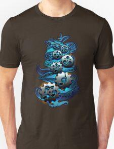 Music Engineer - Music Notes & Gears (blue) T-Shirt