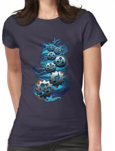 Music Engineer - Music Notes & Gears (blue) Womens Fitted T-Shirt