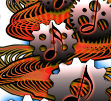 Music Engineer - Music Notes & Gears (red) Sticker