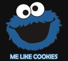 Blue Cookie Monster Baby Tee