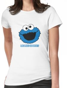 Blue Cookie Monster Womens Fitted T-Shirt