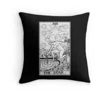 The Star Tarot Card - Major Arcana - fortune telling - occult Throw Pillow