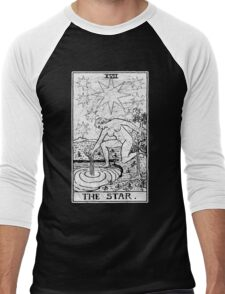 The Star Tarot Card - Major Arcana - fortune telling - occult Men's Baseball ¾ T-Shirt