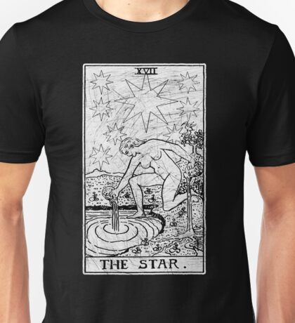 The Star Tarot Card - Major Arcana - fortune telling - occult Unisex T-Shirt