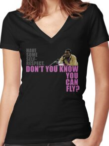 Don't You Know You Can Fly? Women's Fitted V-Neck T-Shirt