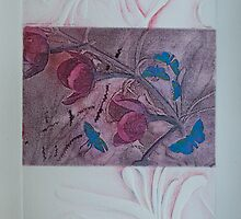 Printmaking: Tea Tree Blossoms Melody by Marion Chapman