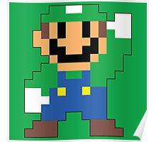 Super Mario Maker - Luigi Costume Sprite Poster