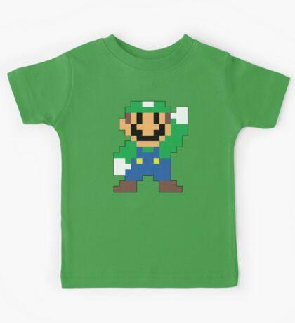 Super Mario Maker - Luigi Costume Sprite Kids Tee