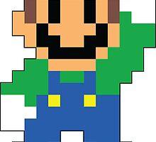 Super Mario Maker - Luigi Costume Sprite by NiGHTSflyer129