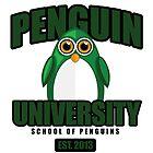 Penguin University - Green by Adamzworld
