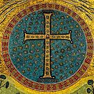 Mosaic Cross Ravenna I by Nigel Fletcher-Jones