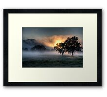 Morning Embers # 2- Jingellic NSW - The HDR Experience Framed Print