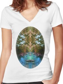 Secrets Of Nature T-shirt Women's Fitted V-Neck T-Shirt