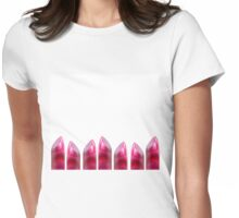 Lipstick row Womens Fitted T-Shirt