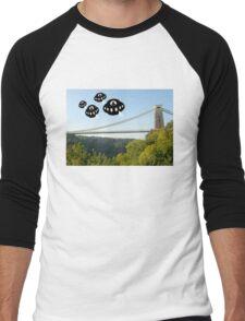 Aliens attack Bristol Men's Baseball ¾ T-Shirt