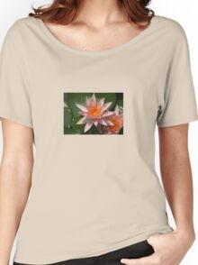 Beautiful Peach Waterlily Vector Women's Relaxed Fit T-Shirt