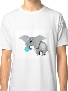 Cute cartoon elephant.  All in a single layer. Classic T-Shirt