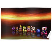 Bomberman - Panic Bomber pixel art Poster