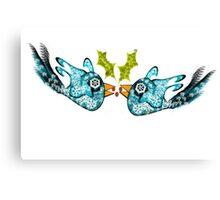 BluE WiNTER sNOW bIRDs (PEACE ON EARTH) Canvas Print