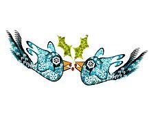 BluE WiNTER sNOW bIRDs (PEACE ON EARTH) Photographic Print