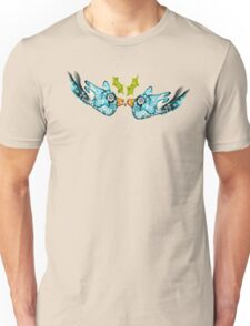 BluE WiNTER sNOW bIRDs (PEACE ON EARTH) Unisex T-Shirt