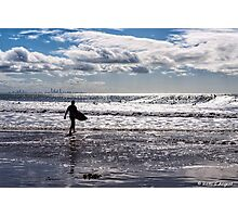 Silver Waves Photographic Print