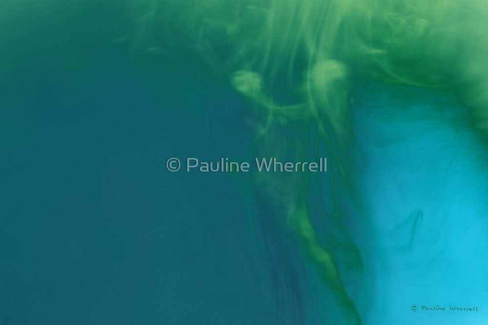 Abstract figure mermaid - the offering by © Pauline Wherrell
