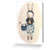 Snootbunny Pale - Halo Background Greeting Card