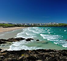 Fiscal beach in Cornwall by R P