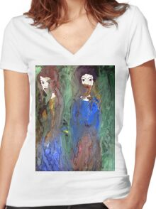 Shyness Women's Fitted V-Neck T-Shirt