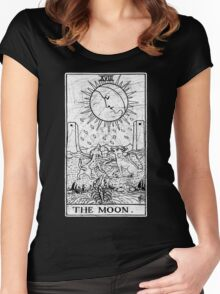 The Moon Tarot Card - Major Arcana - fortune telling - occult Women's Fitted Scoop T-Shirt