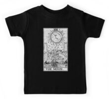 The Moon Tarot Card - Major Arcana - fortune telling - occult Kids Tee