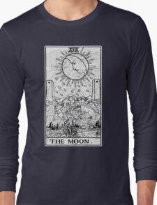 The Moon Tarot Card - Major Arcana - fortune telling - occult Long Sleeve T-Shirt