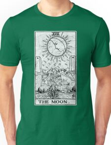 The Moon Tarot Card - Major Arcana - fortune telling - occult Unisex T-Shirt
