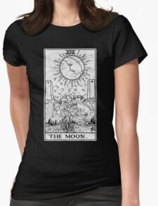 The Moon Tarot Card - Major Arcana - fortune telling - occult Womens Fitted T-Shirt