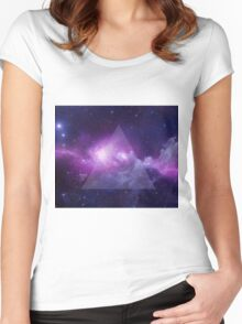 Galaxy Triangle Women's Fitted Scoop T-Shirt