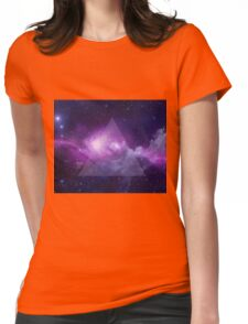 Galaxy Triangle Womens Fitted T-Shirt