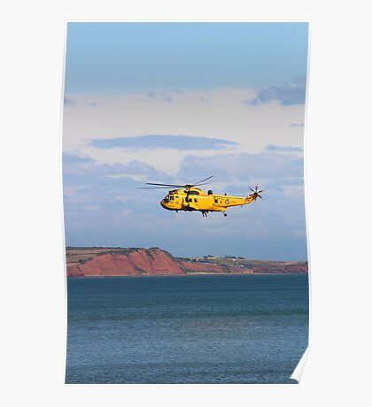 RAF Sea King Helicopter Poster