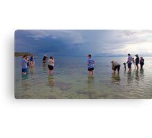 Photographers' at Work Canvas Print