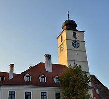 The Sibiu Council Tower Early in the Morning by ivDAnu