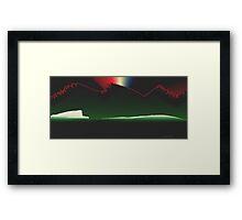 Mountain Aurora Framed Print