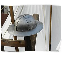 Medieval Riveted Iron Helmet Poster