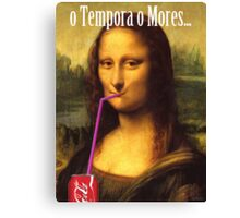 Mona Lisa Cola Canvas Print